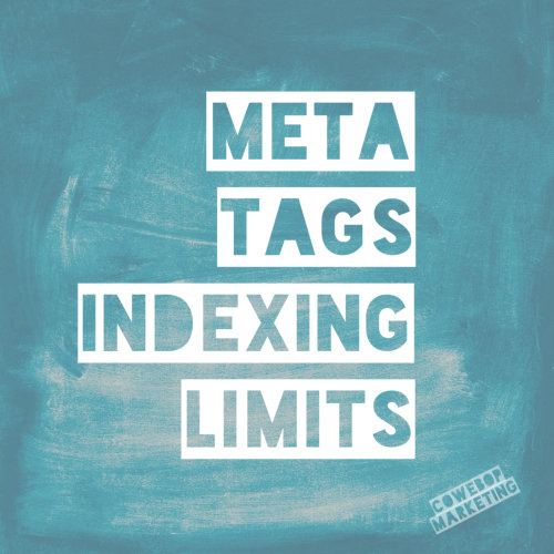 Meta Tags Indexing Limits and Ideas